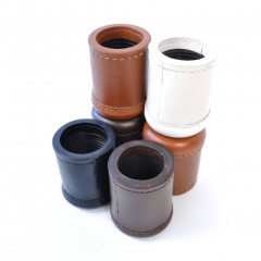 Crisloid Leather Dice Cups black brown chestnut white stacked