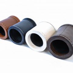 Crisloid Leather Dice Cups black brown chestnut white row
